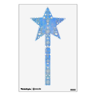 Cobalt Blue Lacy Damask Magic Wand Wall Decal