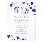 Cobalt Blue, Lovebirds Wedding Invitation