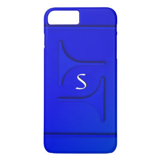 Cobalt Blue Monogram iPhone 7 Plus Case