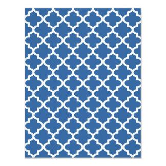 Cobalt Blue Moroccan Tile Trellis 4.25x5.5 Paper Invitation Card