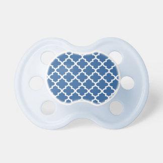 Cobalt Blue Moroccan Tile Trellis BooginHead Pacifier