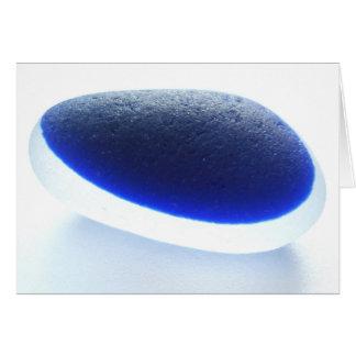 Cobalt blue multi sea glass from Seaham Beach Greeting Card