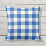 "Cobalt Blue Outdoor Pillows - Gingham Pattern<br><div class=""desc"">Cobalt Blue gingham pillows for outdoors. Made in the USA. High quality twill pattern print in vibrant colors. UV and mildew resistant garden or patio pillows with a gingham or buffalo check pattern. Available in 16 or 20 inch square and 13 by 21 rectangular sizes. Insert included. (Also available as...</div>"