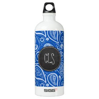 Cobalt Blue Paisley; Vintage Chalkboard SIGG Traveler 1.0L Water Bottle