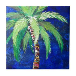 Cobalt Blue Palm II Tile