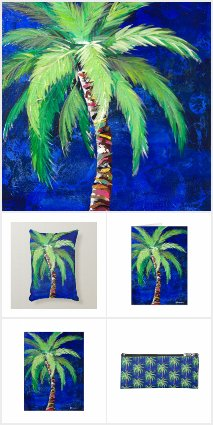 Cobalt Blue Palm Tree