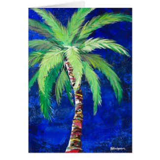 Cobalt Blue Palm Tree Notecard