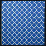 """Cobalt Blue Quatrefoil Napkin<br><div class=""""desc"""">You will love this cute,  chic,  Cobalt Blue Quatrefoil pattern design!  We invite you to our store,  Bridal Shower Shop,  to view this cool vintage girly design on many more great customizable products,  including retro Bridal Shower invitations!  Thank you!</div>"""
