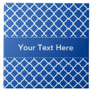 Cobalt Blue Quatrefoil Ceramic Tiles