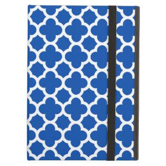 Cobalt Blue Quatrefoil Trellis Pattern iPad Air Ca iPad Air Cases