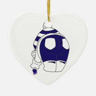 Cobalt Blue Seaglass Ceramic Ornament