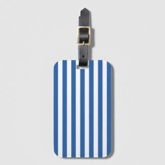 Cobalt Blue Stripe Pattern Luggage Tags