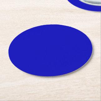 Cobalt Blue Round Paper Coaster