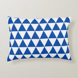 Cobalt Blue Triangles Accent Pillow