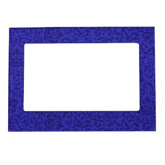 Cobalt Blue Tudor Garden Floral Damask Magnetic Photo Frame