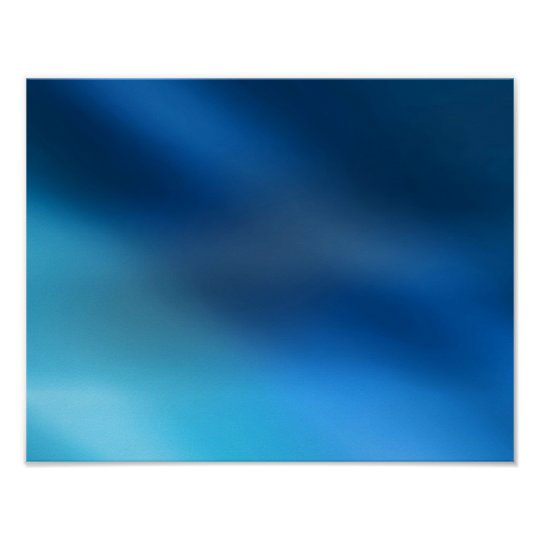 Cobalt Blue Turquoise & Gray Abstract Glow Modern Poster