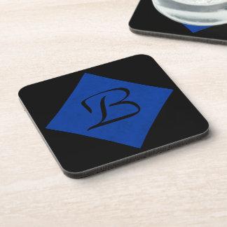 Cobalt Blue Velvet Personalized Home Casino Coasters