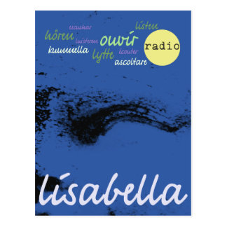 cobalt blue Venetian angel closeup Postcard