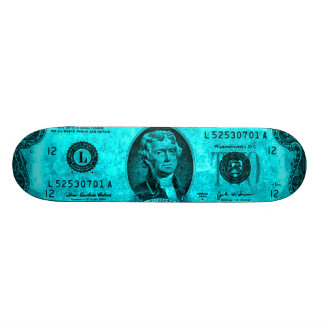 Cobalt Blue Vintage Jefferson Skateboard Deck