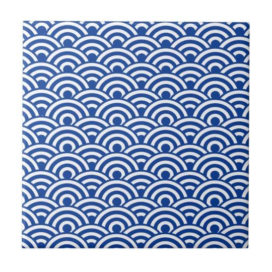 Cobalt Blue White Japanese Wave Pattern Ceramic Tile Zazzle Delectable Wave Pattern