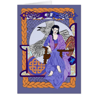 Cobalt Corbie Queen Card