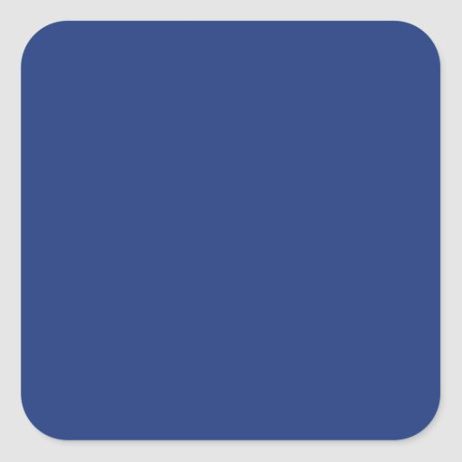 Cobalt Dark Blue Solid Trend Color Background Stickers