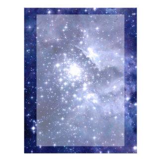 Cobalt Dreams Stars Galaxies Space Universe Letterhead