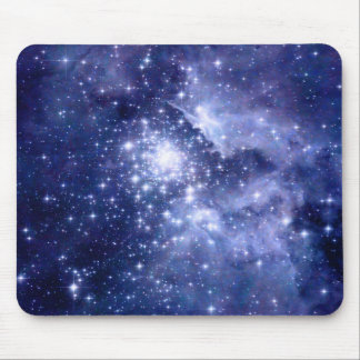 Cobalt Dreams Stars Galaxies Space Universe Mouse Pad
