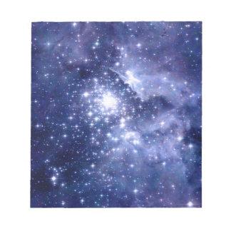 Cobalt Dreams Stars Galaxies Space Universe Notepad