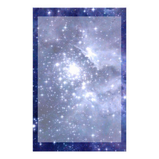 Cobalt Dreams Stars Galaxies Space Universe Stationery