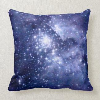 Cobalt Dreams Stars Galaxies Space Universe Throw Pillow