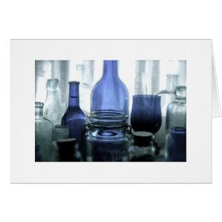 Cobalt glass in the sun card