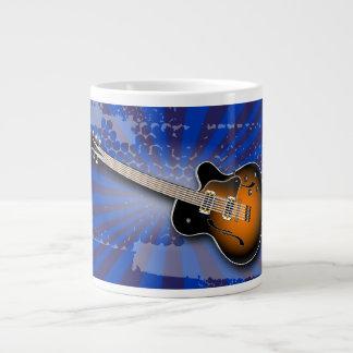 Cobalt Grunge Burst Guitar Specialty Mug Jumbo Mugs