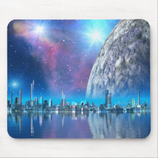 Cobalt Island Cities of the Future Mousemat Mouse Pads