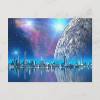 Cobalt Island Cities of the Future Postcard postcard