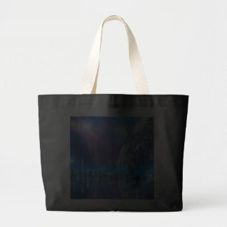 Cobalt Island Cities of the Future Tote Bag