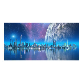 Cobalt Islands Cities of the Future Photo Card