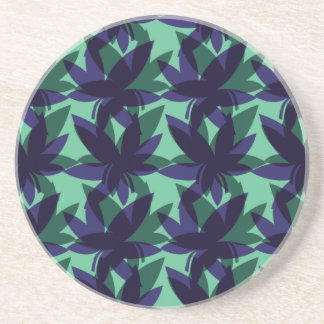 Cobalt Layered Leaves Coaster