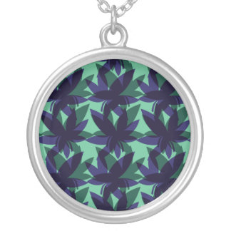 Cobalt Layered Leaves Necklace