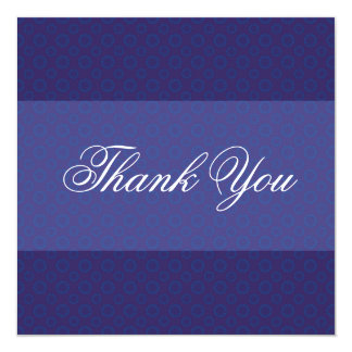 Cobalt Pattern Square Blue Thank You Cards