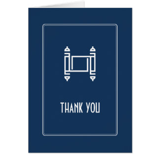 Cobalt Simple Torah Thank You Greeting Cards