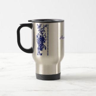 Cobalt Swirl Dots Travel Mug