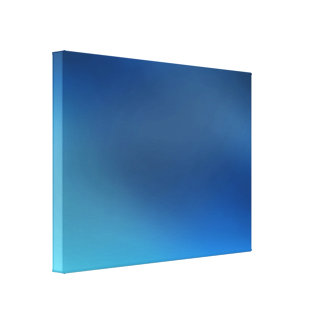Cobalt Turquoise Blue & Gray Abstract Canvas Print