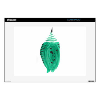 "Cobalt Turquoise Cocoon Decal For 15"" Laptop"
