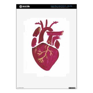 Cobalt Violet Heart iPad 3 Skins
