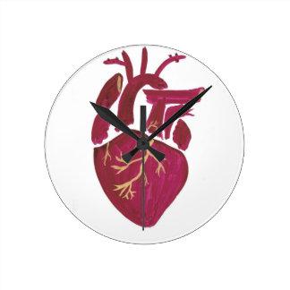 Cobalt Violet Heart Round Clock