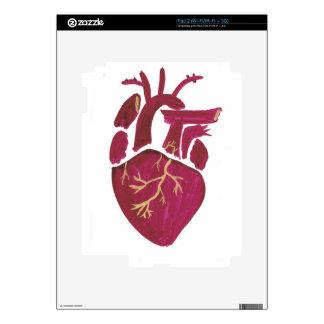 Cobalt Violet Heart Skins For iPad 2