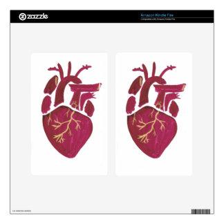 Cobalt Violet Heart Skins For Kindle Fire