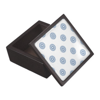Cobalto brillante del estampado de plores 6 caja de recuerdo de calidad