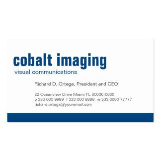Cobalto del panel de la línea de fondo tarjetas de visita